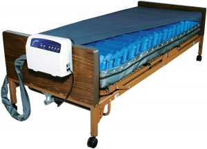"Drive Medical Med Aire Low Air Loss Mattress Replacement System with Alarm, 8"", Blue"