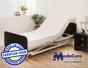 "Pressure Redistribution Foam Hospital Bed Mattress - 3 Layered Visco Elastic Memory Foam - 76"" x 36"" x 6"" - Hospital Grade Nylon Cover Included - by Medacure"